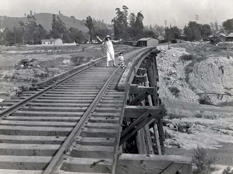 Helen Holmes railroad trestle