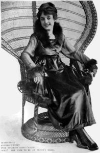 Marguerite Courtot sitting
