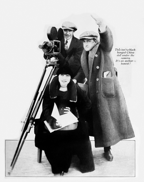 Anita Loos and John Emerson on the set