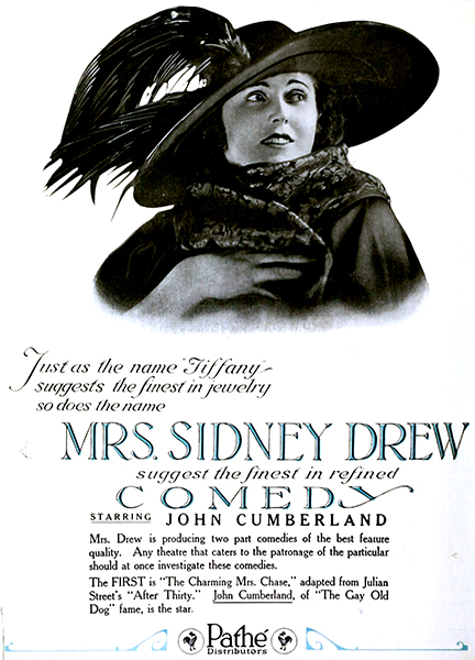 Mrs. Sidney Drew, c. 1920. Bizarre Los Angeles
