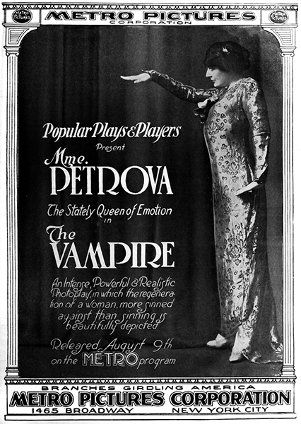 "Olga Petrova in ""The Vampire"" (1915). Bizarre Los Angeles"