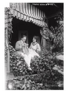 Sidney Drew Lucile McVey knitting