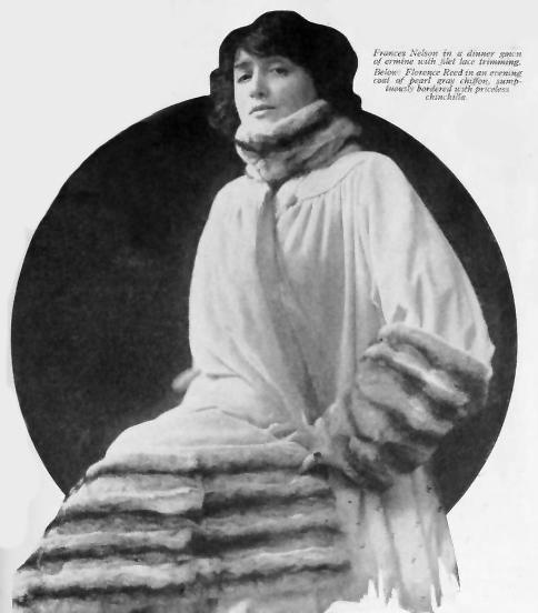 Florence Reed furs 1917