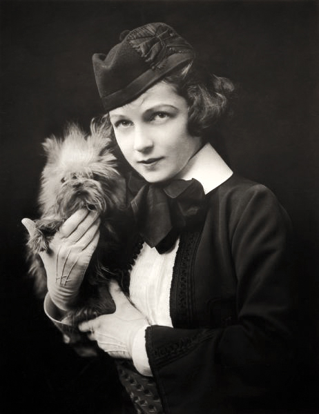 Irene Castle with dog