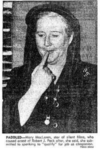 Mary MacLaren spanking victim