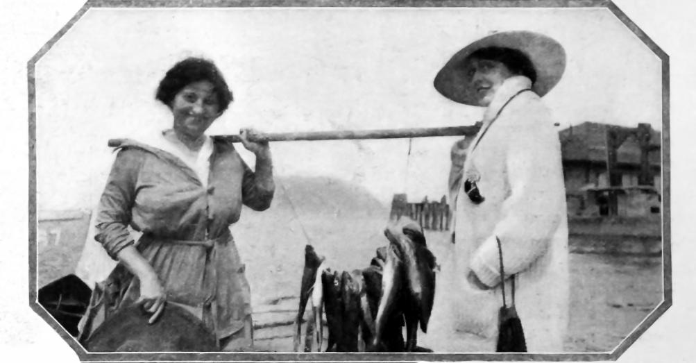 Olga Petrova fishing