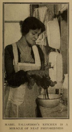 Mabel Taliaferro cooking