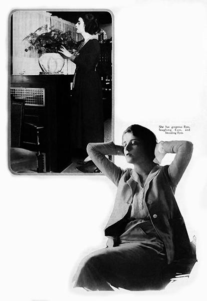 Alma Rubens at home