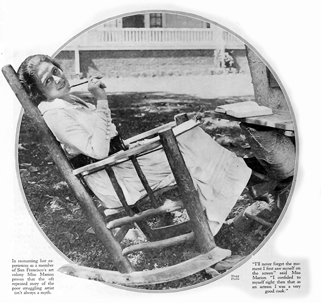 Frances Marion candid
