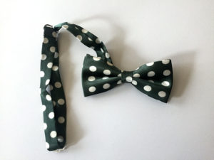 Green and White Polka Dot Bow Tie