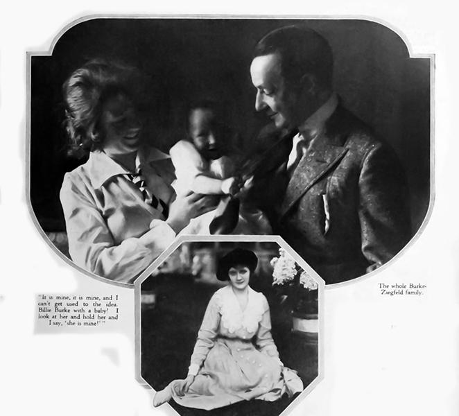 Florence Ziegfeld Billie Burke baby 1917