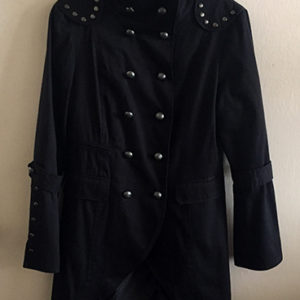 Women's Black Gothic Steampunk Military Jacket
