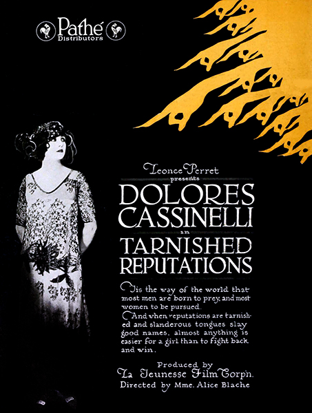 """""""Tarnished Reputations"""" (1920) with Dolores Cassinelli (Bizarre Los Angeles)"""