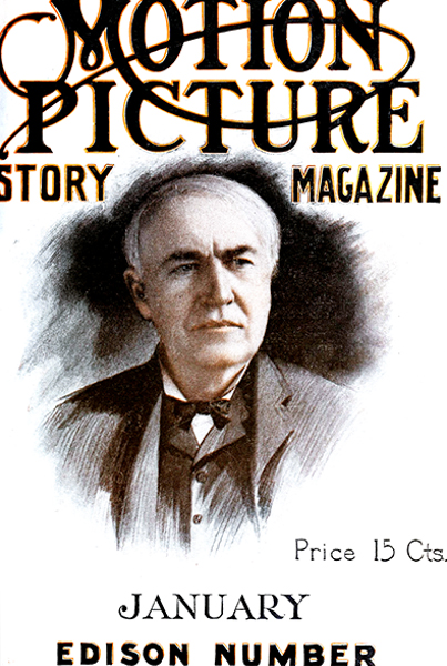Thomas Edison on the cover of Motion Picture Story Magazine in 1913. Bizarre Los Angeles