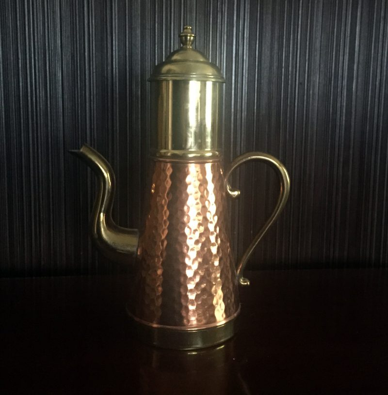 Copper and Brass Coffee Pot