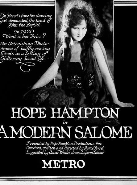 Hope Hampton - A Modern Salome (1920). Bizarre Los Angeles