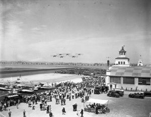 Mines field (later the site of LAX) in 1930 during its dedication ceremony.