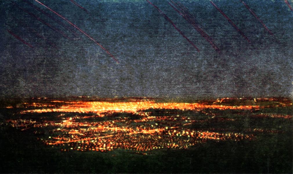 Lights of Los Angeles from Mount Wilson Hotel. (Bizarre Los Angeles)