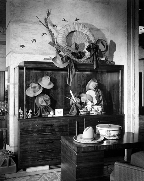 A Palco hat display at Bullock's Wilshire (3050 Wilshire Boulevard) in 1941. (Bizarre Los Angeles)