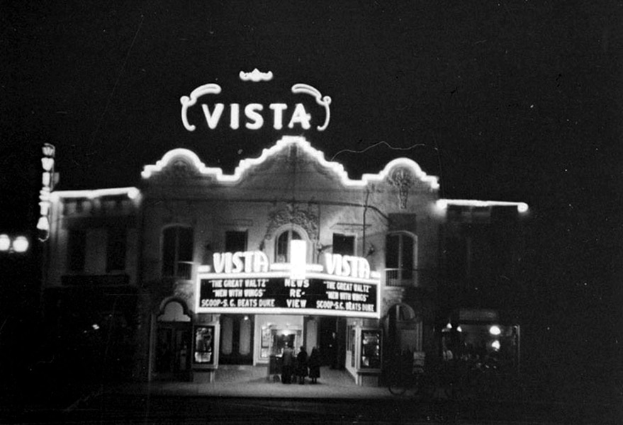 The Vista Theatre (4473 Sunset Drive) in 1938. Photographer: Herman J. Schultheis / LAPL 00102309) Bizarre Los Angeles