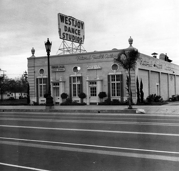 The Westjoy Dance Studios at 8844 Wilshire Blvd. in 1940. (Photographer: Ansel Adams/ LAPL 00085728) Bizarre Los Angeles