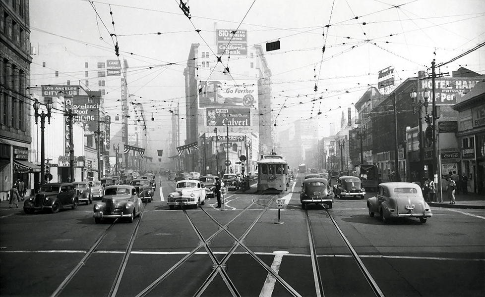 1948 traffic Los Angeles
