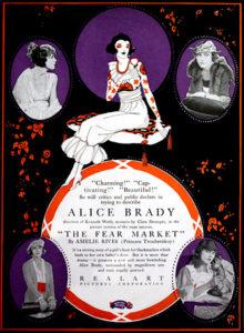 """Alice Brady """"The Fear Market"""" (1919) Bizarre Los Angeles"""