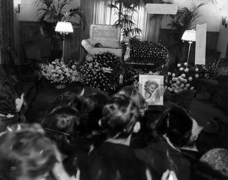 Thelma Todd's funeral. (Bizarre Los Angeles)