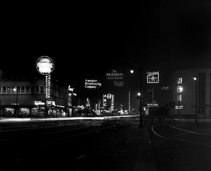 Vine Street Near Sunset Hollywood 1955