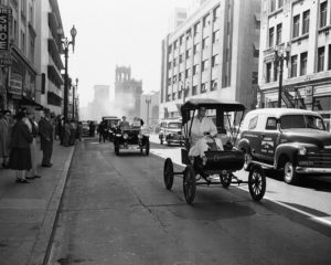 The Horseless Carriage Club in downtown Los Angeles, circa 1951.