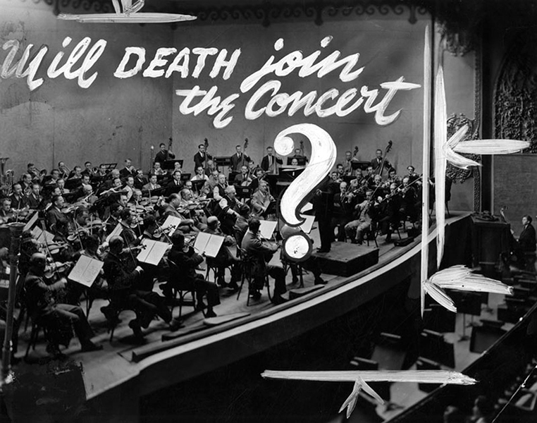 "Arthur Rodzinski defies death and superstition by conducting the ""Symphonie Pathetique"" with the Los Angeles Philharmonic Orchestra in 1950. (Bizarre Los Angeles)"