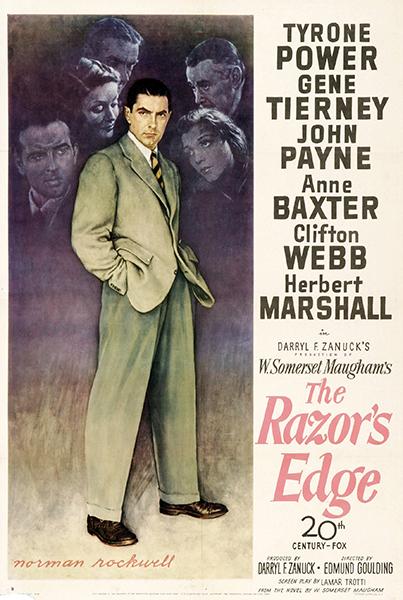 The Razor's Edge poster Norman Rockwell