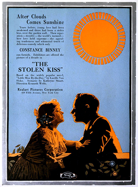 "Contance Binney in ""The Stolen Kiss"" (1920). Bizarre Los Angeles."