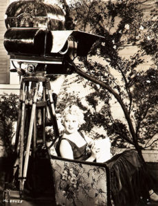 Thelma Todd on the set. (Bizarre Los Angeles)