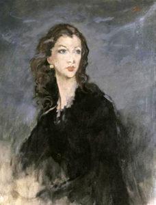 Vivien Leigh painting