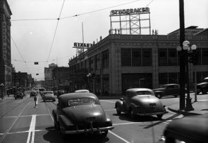 Figueroa and Seventh Street 1949