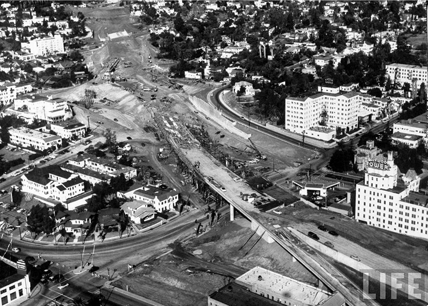 Hollywood Freeway Construction 1953
