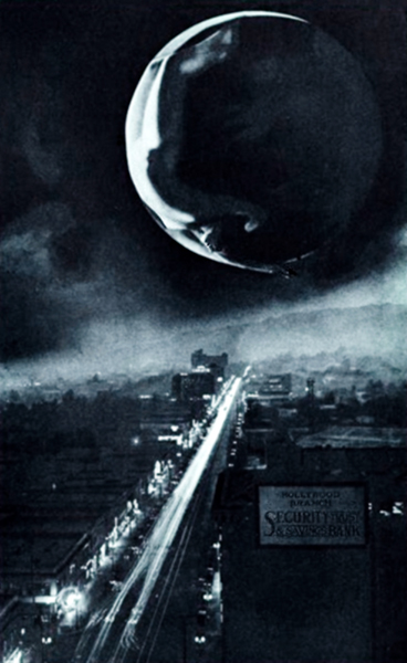 Lady Moon Over Hollywood, c. 1928. (Bizarre Los Angeles)