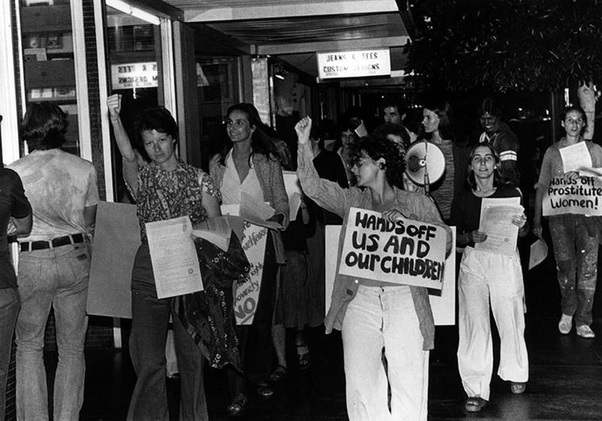 Prostitution protest