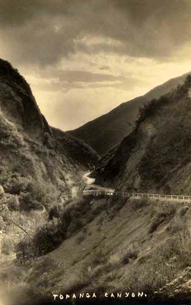 A scenic view of Topanga Canyon from around 1930. Bizarre Los Angeles