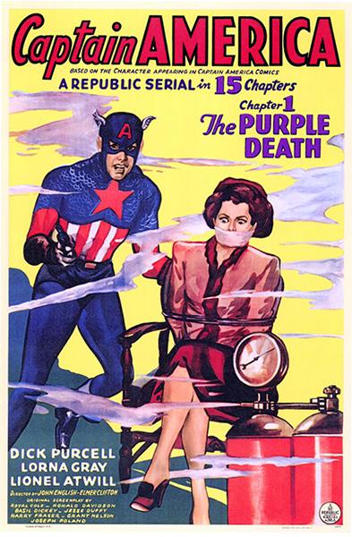 Captain America movie poster 1944