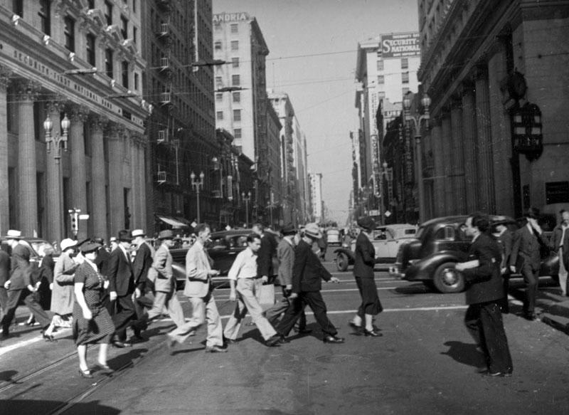 Crossing Spring Street 1937