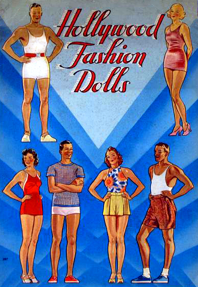 Hollywood Fashion Dolls Restored 1939 Saalfield Book Painted by Corinne Bailey