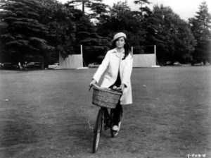 Nancy Kwan bicycle
