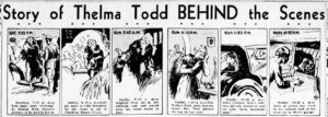 Thelma Todd death timeline