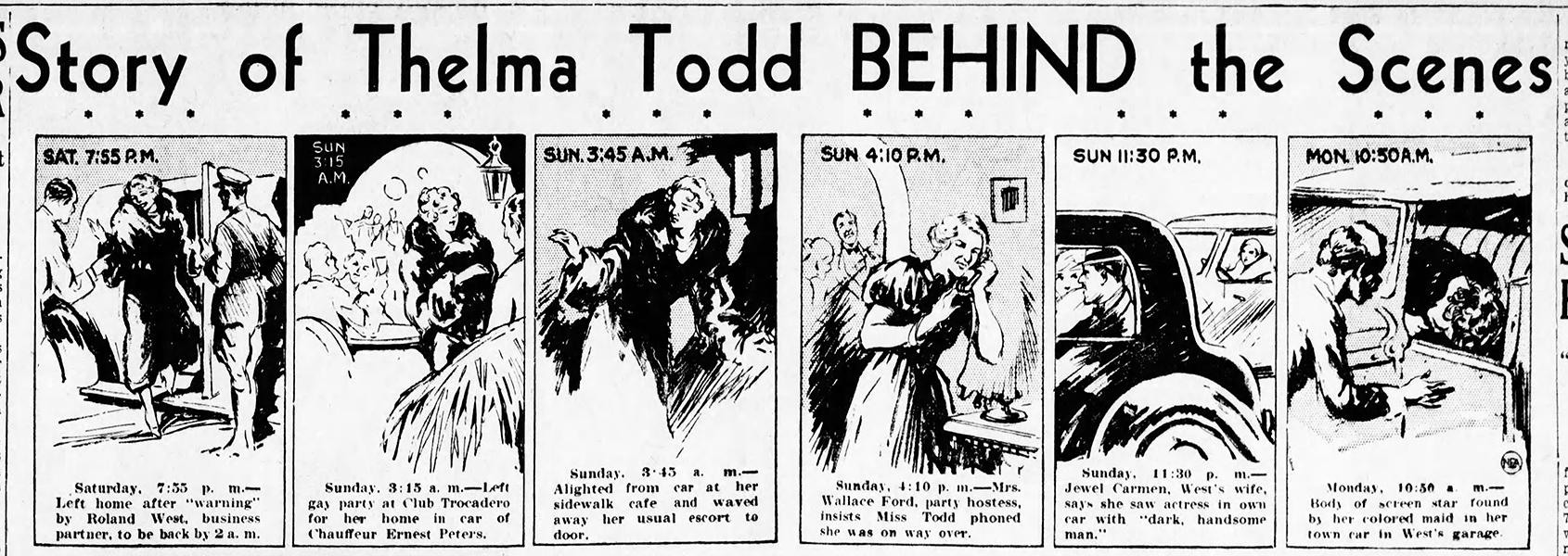 Thelma Todd's death timeline (Bizarre Los Angeles)
