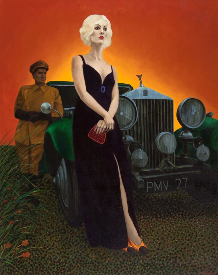 Thelma Todd. Year: 1968. Artist: Pritchard. Oil on canvas. 61 x 47.5 inches. (Bizarre Los Angeles)