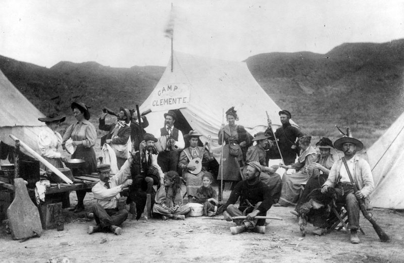 Catalina Island campers 1800s