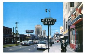Miracle Mile Wilshire Blvd 1950s