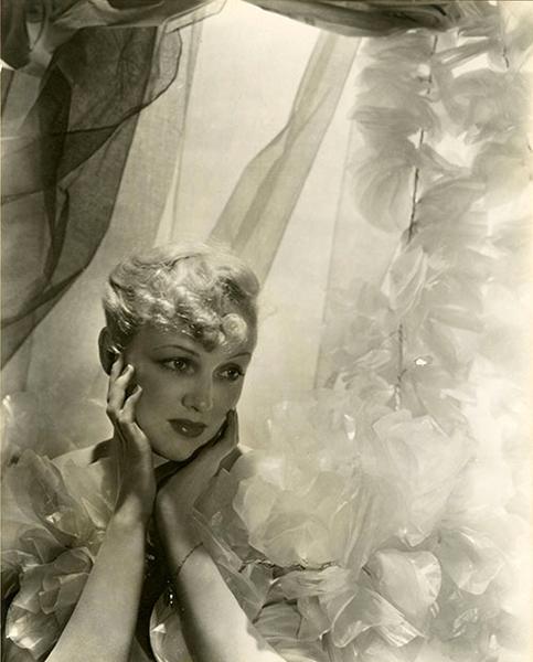 Virginia Cherrill portrait by Cecil Beaton, c. 1930s. (Bizarre Los Angeles)